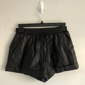 Finders Keepers Faux Leather Shorts Size Small